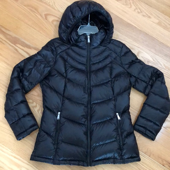 Calvin Klein packable premium down hooded jacket